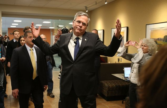 Jeb Bush after the Nationwide forum. (Photo: Joe Raedle for Getty Images)