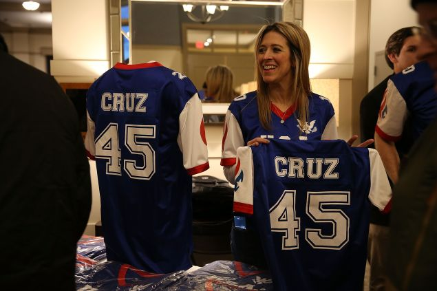The Ted Cruz football jerseys, for sale in West Des Moines. (Photo: Joe Raedle for Getty Images)