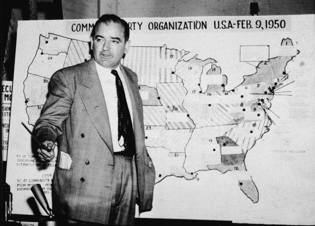 Joseph McCarthy. (Photo: Getty Images)