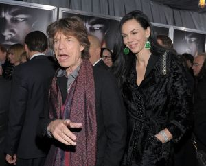 Mick Jagger with his longtime paramour, the late L'Wren Scott. (Photo by Michael Loccisano/Getty Images)