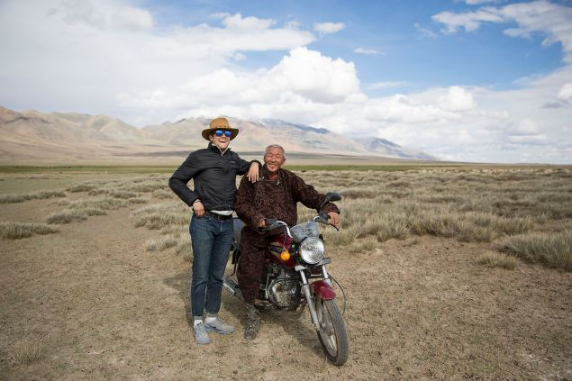 Mr. Scanlon with a Mongolian herder (Photo: Courtesy Naadam).