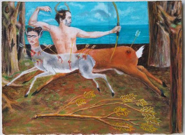 Charles Vincent Sabba, After Frida: La Fuga di Actaeon e Frida. (Photo: Y Gallery)