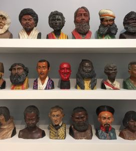 Jim Shaw's collected busts. (Photo: Courtesy of Ryan Steadman and Observer.com)