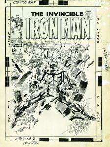 Original cover art for Iron Man (no. 1, May 1968). (Image: Collection of David H. Mandel)