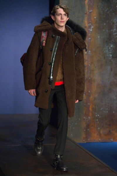A reverse shearling look from Coach (Photo: Courtesy Coach).