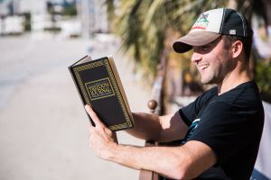 Mr. Dumas with his 'Freedom Journal.' (Photo: Entrepreneur on Fire)