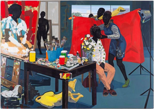 Kerry James Marshall, Untitled (Studio), 2014. (Purchase, The Jacques and Natasha Gelman Foundation Gift, Acquisitions Fund and The Metropolitan Museum of Art Multicultural Audience Development Initiative Gift, 2015, © Kerry James Marshall)