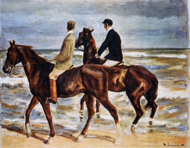 Max Liebermann's Riders on the Beach is among the works found in Cornelius Gurlitt's massive trove of art. (Photo: Wikimedia Commons)