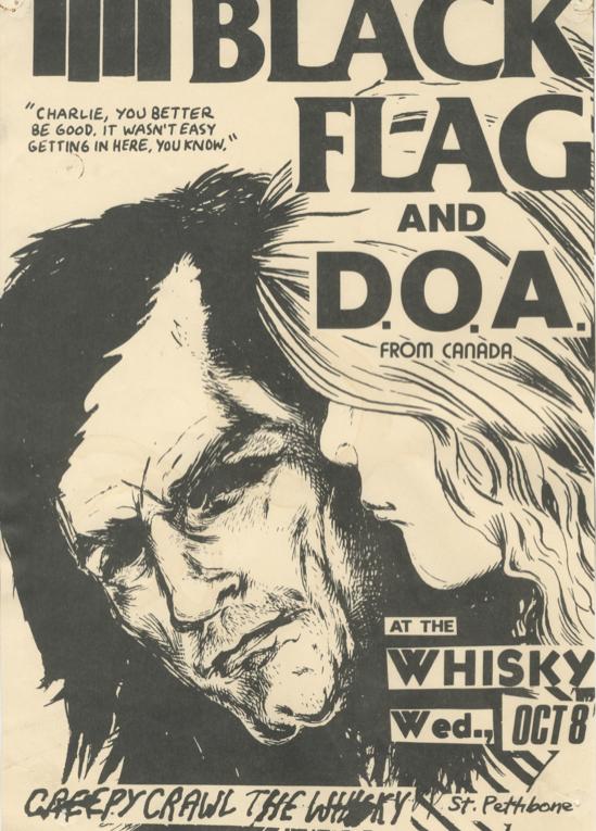 A Black Flag flyer by Raymond Pettibone. (Photo: Courtesy of Printed Matter)