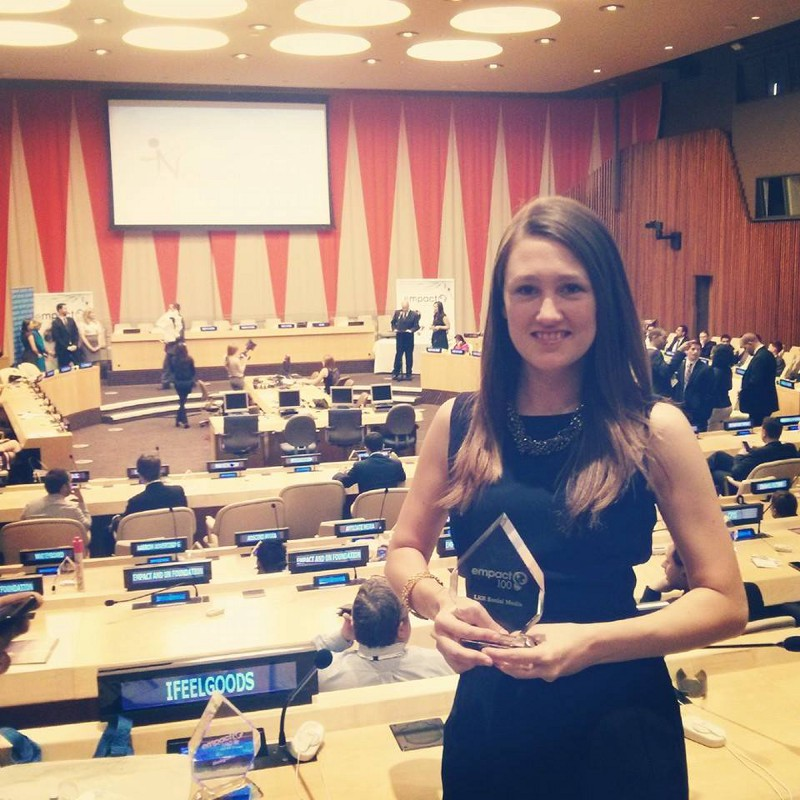 Me, female-foundering-it-up at the United Nations