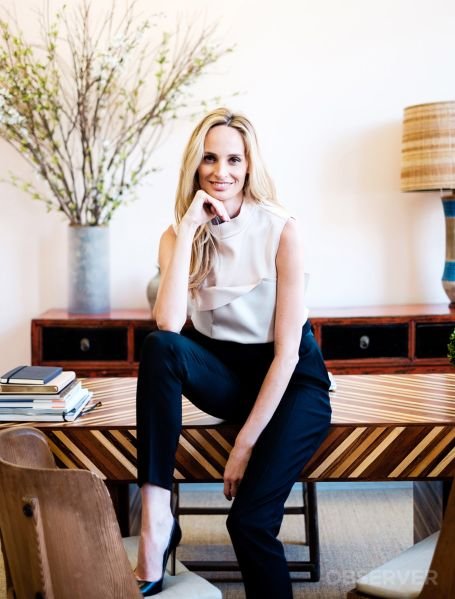 Lauren Santo Domingo, top by Marni, trousers by Rochas. (Photo: Chris Sorensen for Observer).