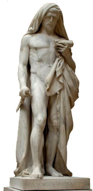 Statue of Cato the Younger in the Louvre Museum. (Photo: Wikipedia Creative Commons)