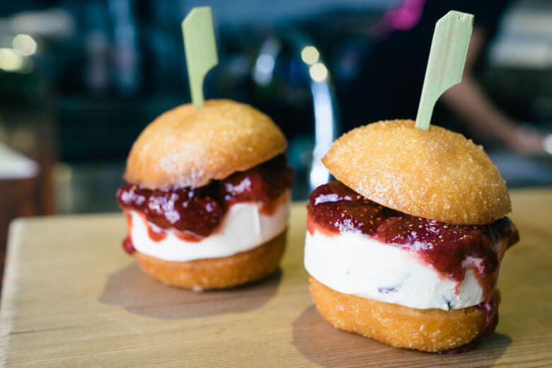 The real reason you go to the gym: so you can eat a burger made out of ice cream.
