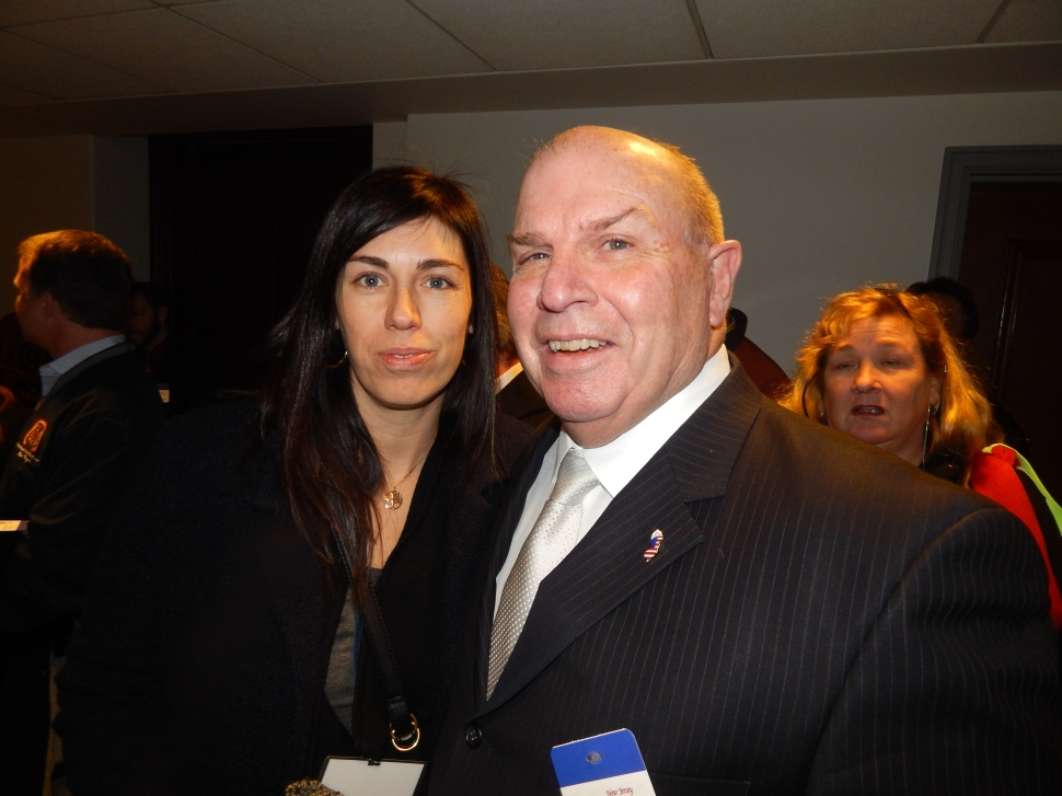 Bill Mullen, president of the NJ Building Trades, with Trish Mueller of the Carpenters.