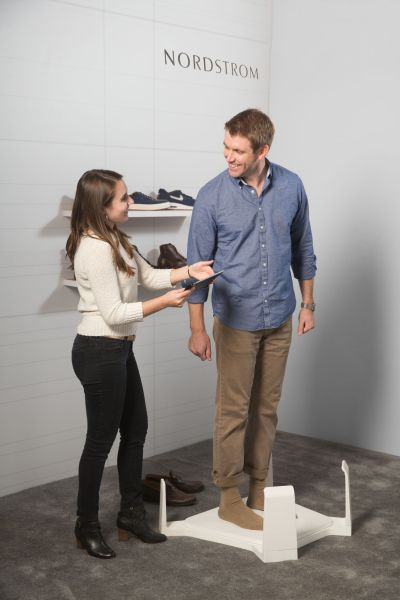 The new foot measuring tool in action (Photo: Courtesy Intel).