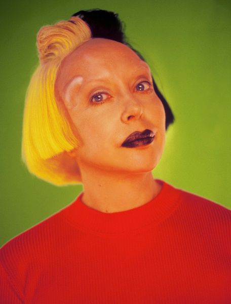 A portrait of the French artist Orlan by Fabrice Lévêque, (1997).