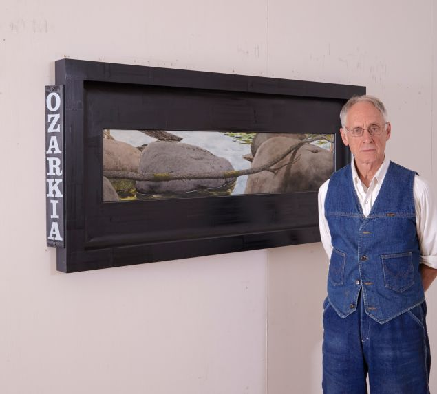 Neil Jenney in front of Ozarkia, 2014. (Photo: Courtesy of the artist)