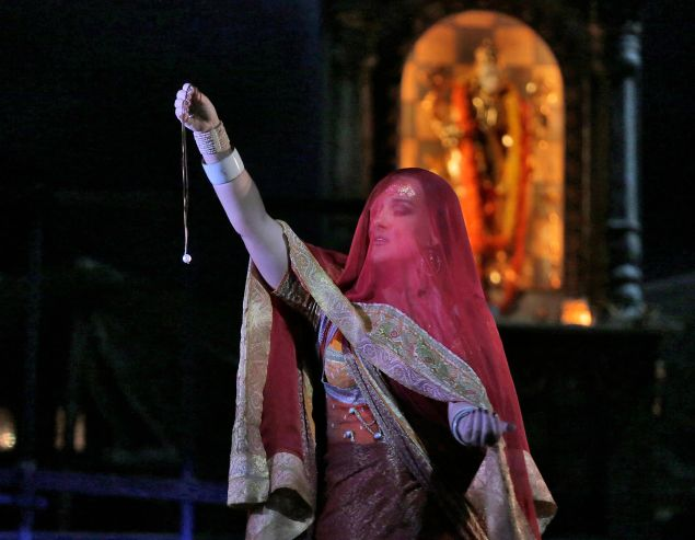 Diana Damrau as Leila in Bizet's Les Pêcheurs de Perles. (Photo by Ken Howard/Metropolitan Opera)