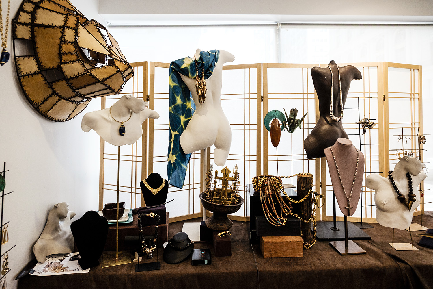 Jewelry displayed at the Robert Lee Morris studio at 390 Fifth Avenue, New York, NY. Chris Sorensen/For New York Observer
