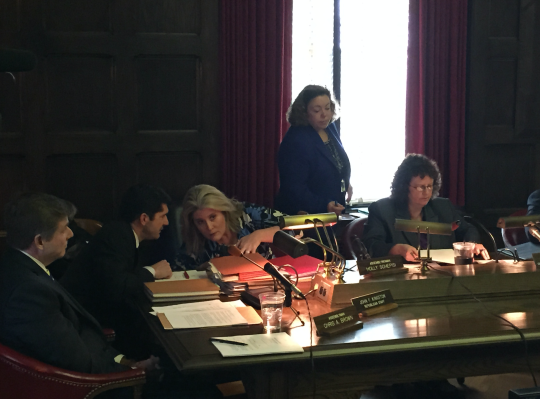 Left to right: Brown and Schepisi at Thursday's hearing