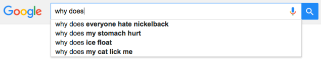 Google's autofill knew what I was wondering. (Screengrab: Google)