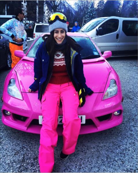 The author in her ski kit. (Photo: Instagram)