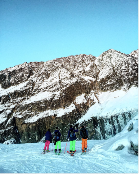 Members of the Colette Ski Club ponder the route (Photo: Courtesy Black Crows).