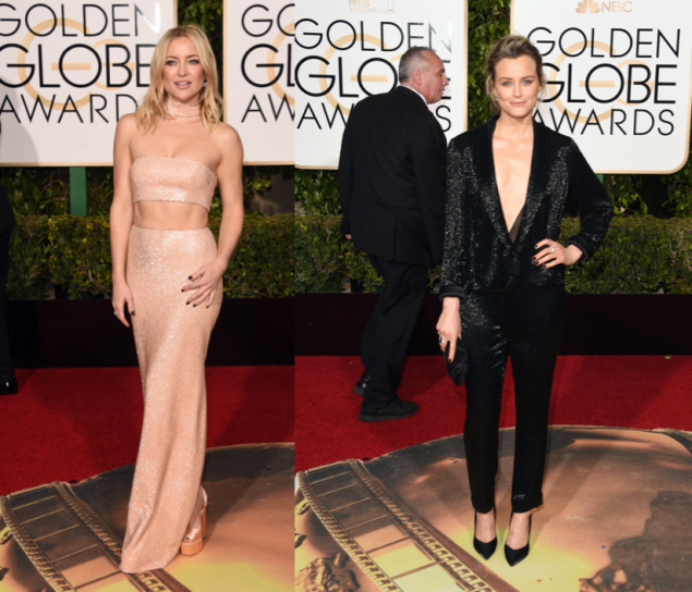 Kate Hudson in Michael Kors Collection and Taylor Schilling in Thakoon (Photos: Getty Images).