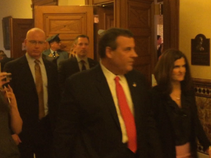 Christie's exit after Tuesday's address