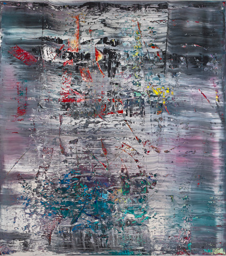 Gerhard Richther's Abstraktes Bild, 1990, with an auction estimate or roughly $20 - 28.5 million.