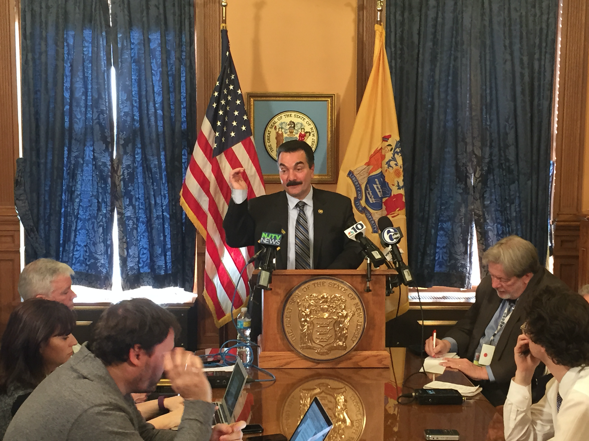 Prieto at Wednesday's press conference