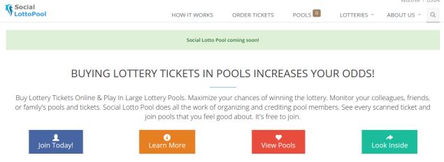 (Screenshot: Social Lotto Pool)