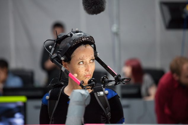 Gillian Anderson on set for 'Squadron 42.' (Photo: Cloud Imperium Games)