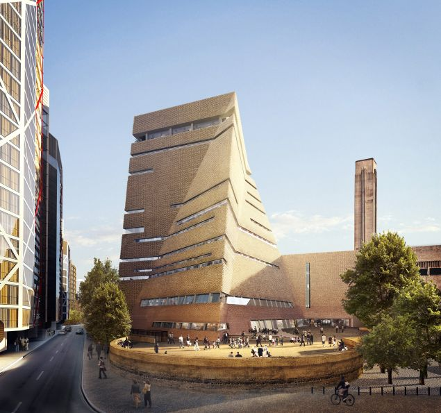 The new Tate Modern (exterior view from the south) © Hayes Davidson and Herzog & de Meuron
