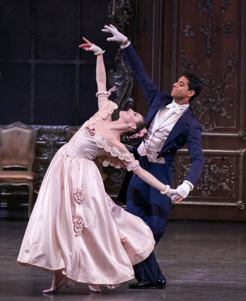 Tiler Peck and Amar Ramasar Liebeslieder Walzer Act I Choreography George Balanchine © The George Balanchine Trust New York City Ballet Credit Photo: Paul Kolnik studio@paulkolnik.com nyc 212-362-7778