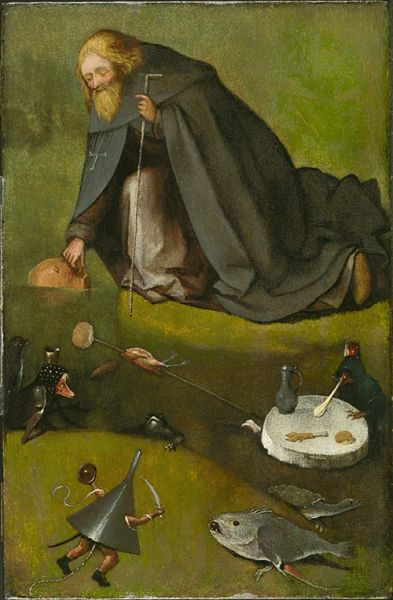 Hieronymus Bosch, The Temptation of St. Anthony, (ca. 1500-1510). (Photo: Radboud University website, ru.nl)