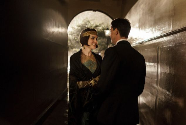 Upstairs-upstairs: Michelle Dockery and Matthew Goode in Downton Abbey
