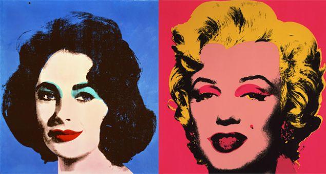 Andy Warhol, Blue Liz, 1964 and Marilyn, 1967. (The Andy Warhol Museum, Pittsburgh. © The Andy Warhol Foundation for the Visual Arts, Inc.)