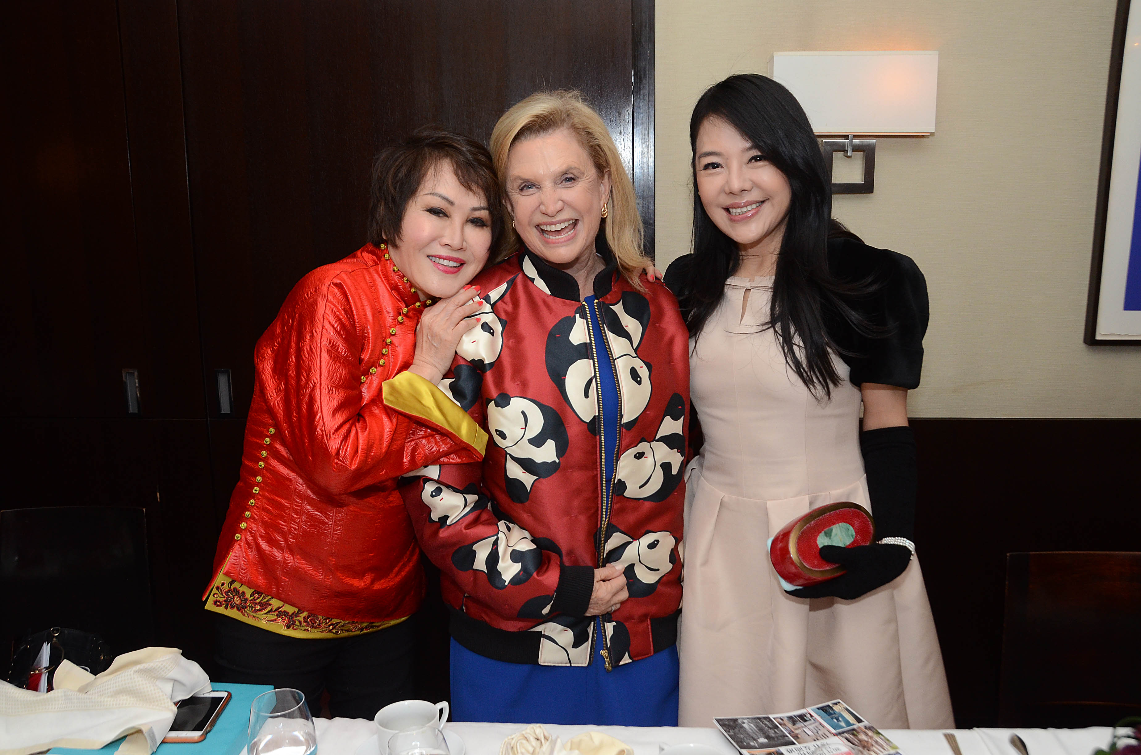 11. Yue-Sai Kan, NY Congresswoman Carolyn B. Maloney, President of Shanghai's Bund Association for Promotion of Commerce & Trade Michelle Lee