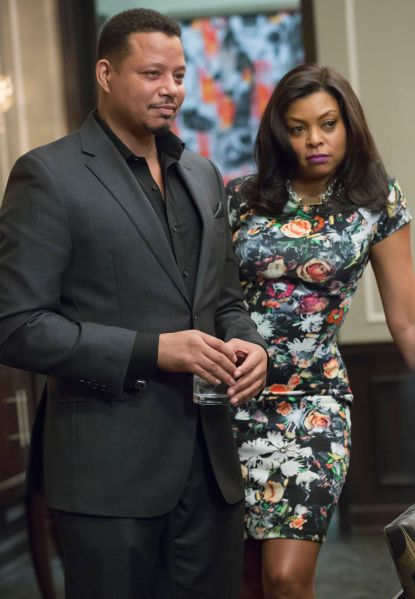 """EMPIRE: Lucious (Terrence Howard, L) and Cookie (Taraji P. Henson, R) have a meeting in the """"Sins of the Father"""" episode of EMPIRE airing Wednesday, March 11 (9:01-10:00 PM ET/PT) on FOX. ©2015 Fox Broadcasting Co. CR: FOX Chuck Hodes/FOX"""