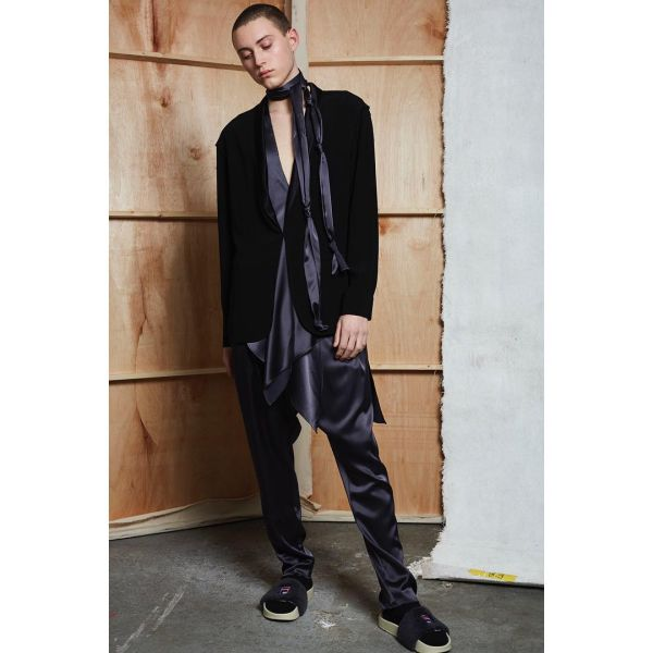 Black on black from Baja East's Pre-Fall 2016 range (Photo: Instagram).