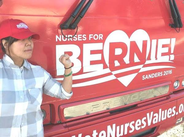Ms. Wong working on the campaign in Nevada. (Photo by courtesy)