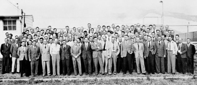 The real life Operation Paperclip group. (Wikicommons)