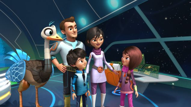 """MILES FROM TOMORROWLAND - """"The Discovery Expedition"""" - Loretta uses her coding skills to discover a hidden planet. This episode of """"Miles From Tomorrowland"""" premieres Friday, December 4 (10:30 AM - 11:00 AM ET/PT) on Disney Junior. (Disney Junior) MERC, LEO, MILES, PHEOBE, LORETTA"""