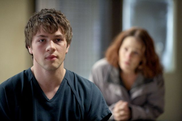 Connor Jessup and Lili Taylor in American Crime.