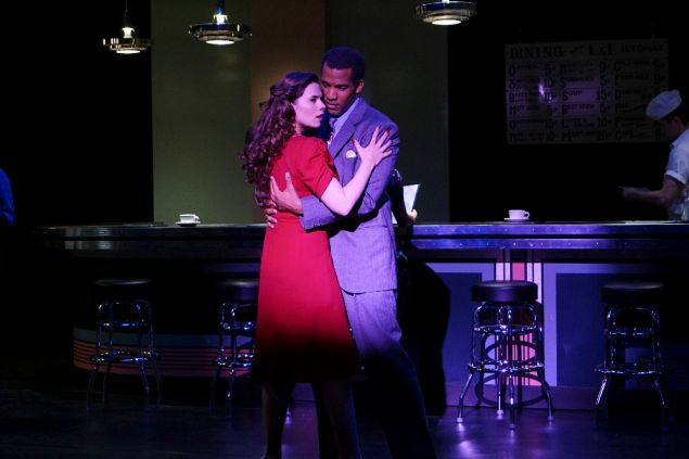 Hayley Atwell and Reggie Austin in Marvel's Agent Carter.