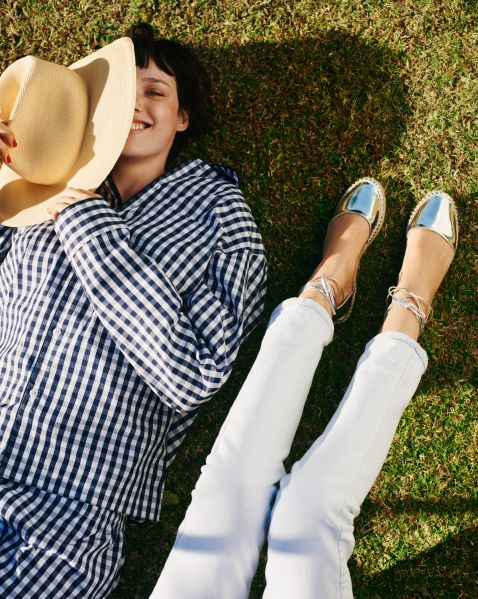 Espadrilles of the metallic inclination (Photo: Courtesy Frances Valentine).