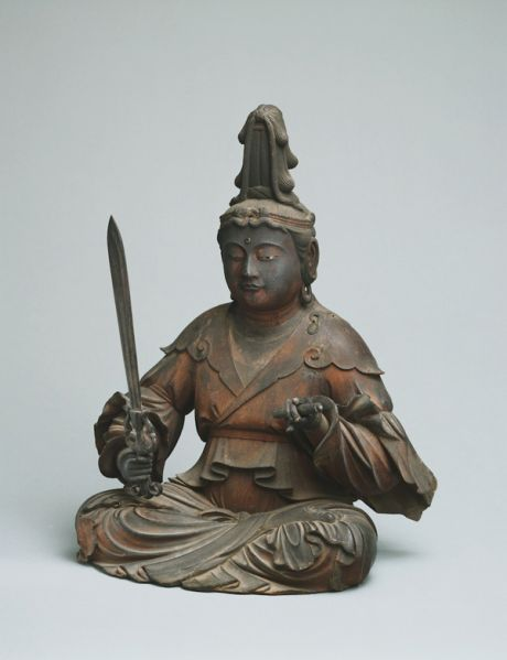 Kōshun, The Shinto deity Hachiman in the guise of a Buddhist monk, Kamakura period, dated 1328, Museum of Fine Arts, Boston; Maria Antoinette Evans Fund and Contributions. (Photograph © 2016 Museum of Fine Arts, Boston)