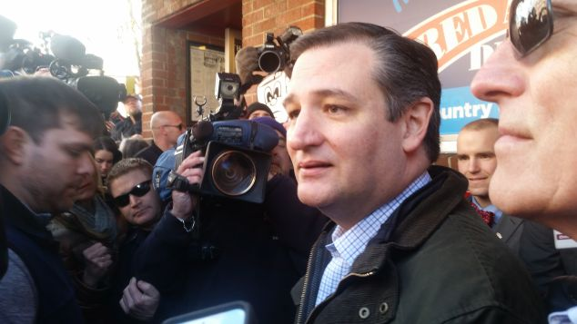 Sen. Ted Cruz today. (Photo: Ross Barkan for Observer)