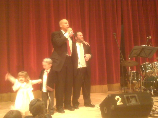 Cory Booker delivers a toast at the bat mitzvah of one of the Boteach daughters, February 2010.